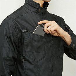 バートル 5511HB ヘリンボーン長袖ジャケット(男女兼用)  Phone収納ループ