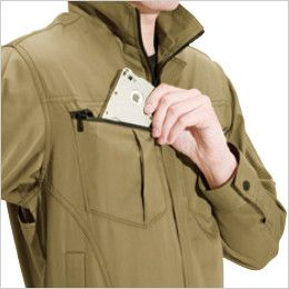 バートル 6071 [秋冬用]制電T/Cソフトツイルジャケット(JIS T8118適合)(男女兼用)  Phone収納ポケット