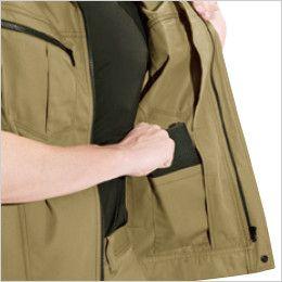 バートル 6071 [秋冬用]制電T/Cソフトツイルジャケット(JIS T8118適合)(男女兼用)  内ポケット
