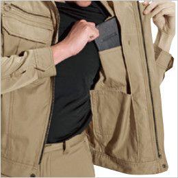 バートル 6091 [秋冬用]ソフトツイルジャケット(男女兼用)  内ポケット