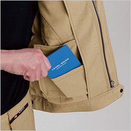 バートル 7092 [春夏用]ドビークロス半袖ジャケット(JIS T8118適合)(男女兼用) 内ポケット