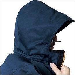 バートル 7111 [秋冬用]パイピング防寒コート(男女兼用) 大型フードスピンドル付(マジックテープ+ファスナー脱着)
