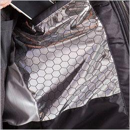 バートル 7510 リップクロス防寒ジャケット(大型フード付)(男女兼用) アルミフィルムラミネート加工(ボディ胸面)
