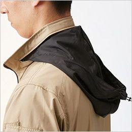 AC1111 バートル エアークラフト[空調服]長袖ジャケット(男女兼用) ポリ100% 収納式フード(スピンドル付き)(全色ブラック)