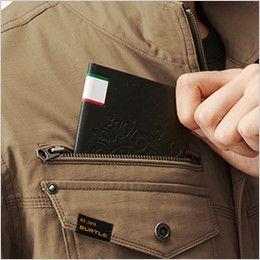 バートル AC1131 エアークラフト[空調服]長袖ブルゾン(男女兼用) 綿100% レベルブック収納ポケット(深さ21cm)