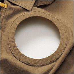 バートル AC1131 エアークラフト[空調服]長袖ブルゾン(男女兼用) 綿100% 背中ファン取付口