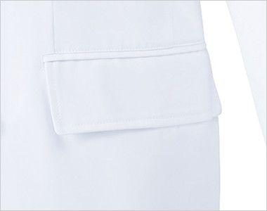 MZ-0026 ミズノ(mizuno) ドクターコート・ダブル(男性用) ポケット(右脇だけ中ポケット付き)