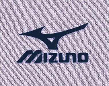 MZ-0198 ミズノ(mizuno) 入浴介助用ニットシャツ(男女兼用) ダークネイビーのミズノマークプリント付