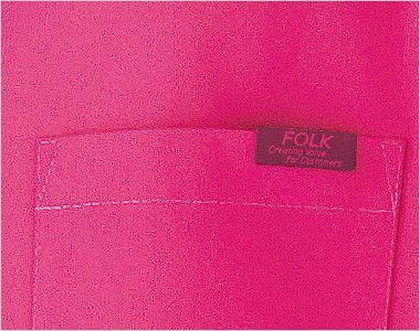 7000SC FOLK(フォーク) パントン スクラブ(男女兼用) FOLKピスネーム付きポケット