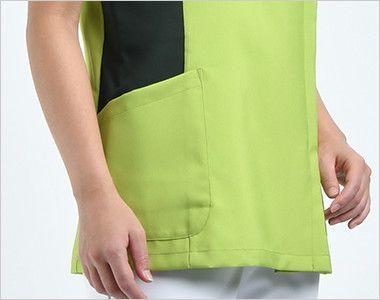 7014SC FOLK(フォーク) レディス ジップスクラブ(女性用) ポケット付き