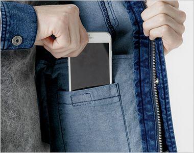7340 アイズフロンティア ストレッチ3Dワークジャケット スマホが入る内ポケット
