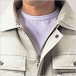 自重堂 48090 [秋冬用]綿100%防寒ブルゾン(裏地フリース・フード付) 衿ボア仕様