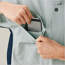 自重堂 82400 ブレバノプラスツイル難燃ブルゾン 携帯電話収納ポケット