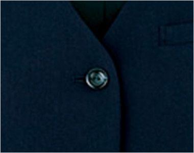 en joie(アンジョア) 11070 リーズナブルな価格が魅力!エコでおしゃれなベスト 無地 シンプルな黒ボタン