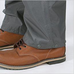 7720 カジメイク 東レ ブリザテック KJレインパンツ(男女兼用) パンツ裾幅を調節できるスナップボタン付