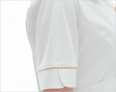 LH6242 ナガイレーベン(nagaileben) ビーズベリー チュニック半袖(女性用) 女性らしい優しさを感じさせるかわいい袖