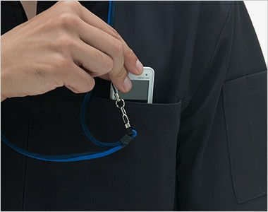 LH6262 ナガイレーベン(nagaileben) ビーズベリー センタージップ ケーシージャケット(男性用) PHSポケット
