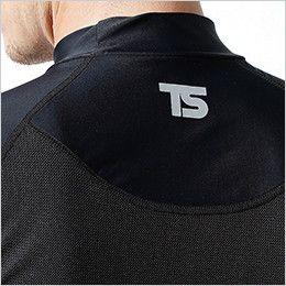 841551 TS DESIGN [春夏用]コンプレッション ハイネックショートスリーブシャツ(男性用) 反射プリント