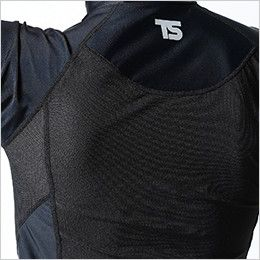841551 TS DESIGN [春夏用]コンプレッション ハイネックショートスリーブシャツ(男性用) メッシュ