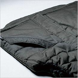 ジーベック 213 現場服 綿100% 防寒ベスト 大きなパッチポケット付き
