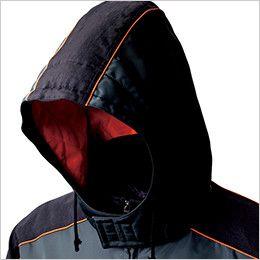 ジーベック 892 ライダーススタイル 防寒ブルゾン 防風 大型フードアジャスター