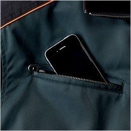 ジーベック 892 ライダーススタイル 防寒ブルゾン 防風 ファスナーポケット