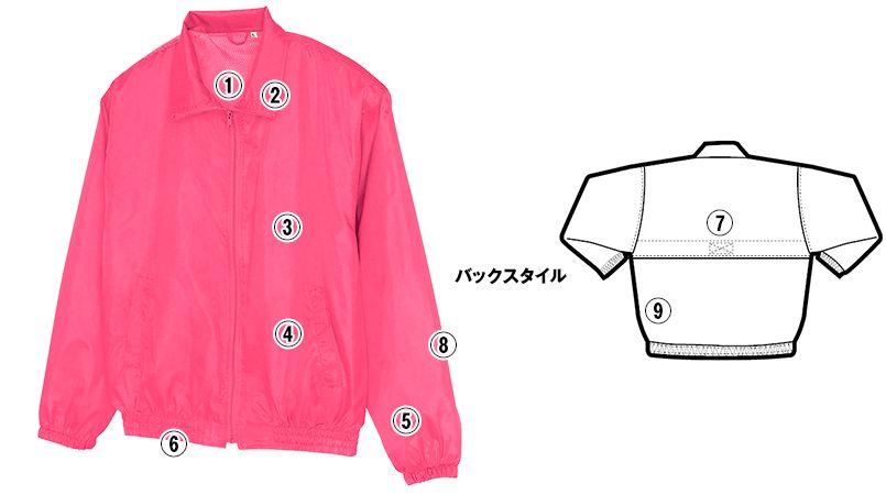 AZ50102 アイトス 裏メッシュブルゾン(男女兼用) 商品詳細・こだわりPOINT