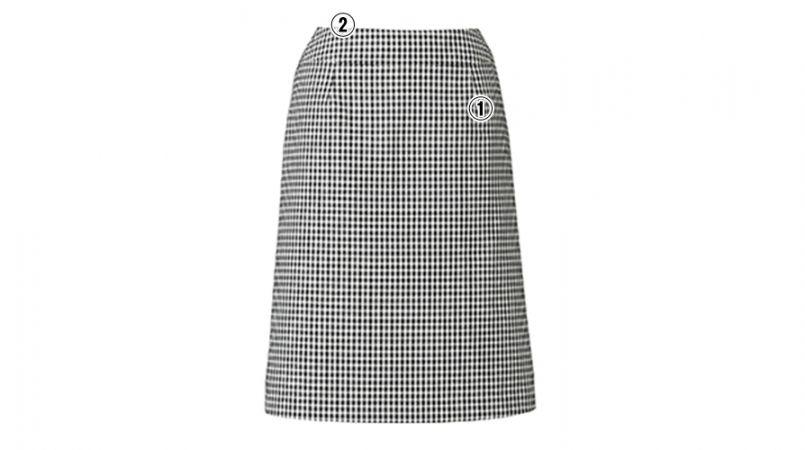 BONMAX LS2743 [春夏用]アミティエ Aラインスカート チェック 商品詳細・こだわりPOINT
