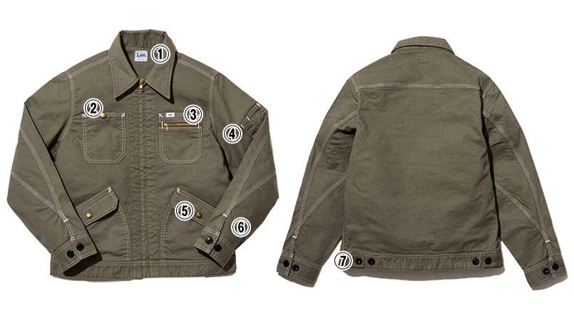 LWB03002 Lee ジップアップジャケット(女性用) 商品詳細・こだわりPOINT