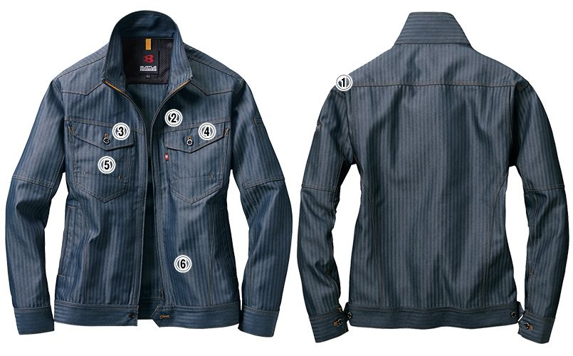 バートル 1501 ヘリンボーン&T/Cソフトツイルジャケット(男女兼用) 商品詳細・こだわりPOINT