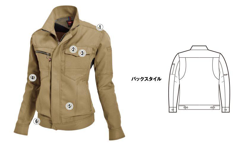 バートル 7088 制電ストレッチレディースジャケット(JIS T8118適合)(女性用) 商品詳細・こだわりPOINT
