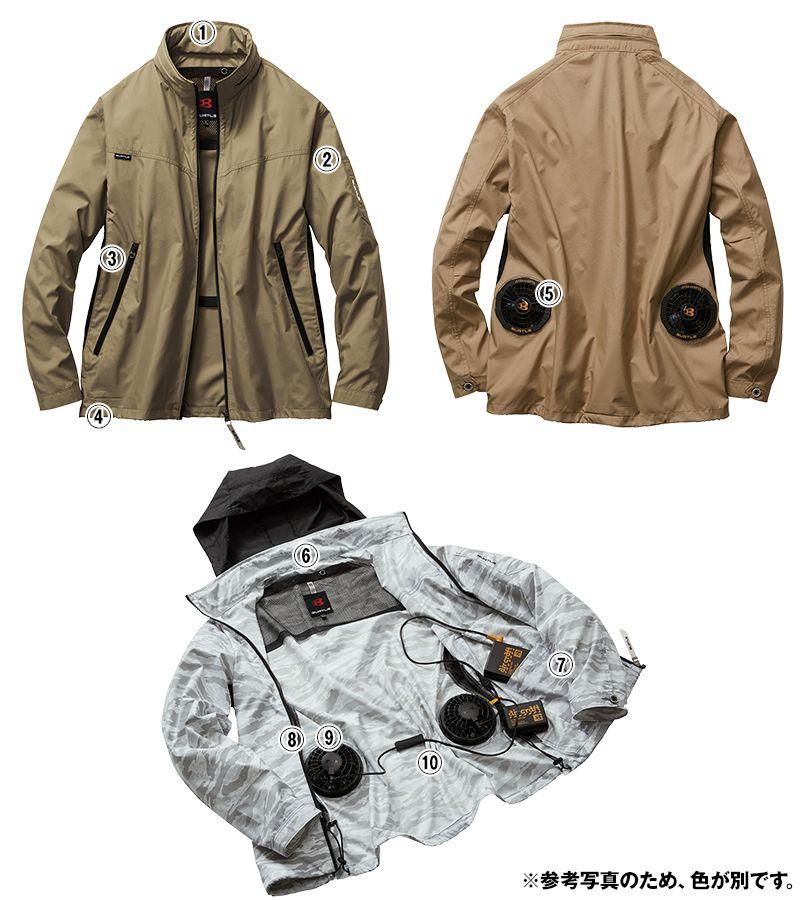 AC1111 バートル エアークラフト[空調服]長袖ジャケット(男女兼用) ポリ100% 商品詳細・こだわりPOINT