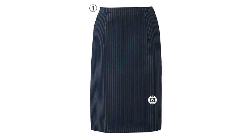 ESS456 enjoy [通年]セミタイトスカート ストライプ 商品詳細・こだわりPOINT