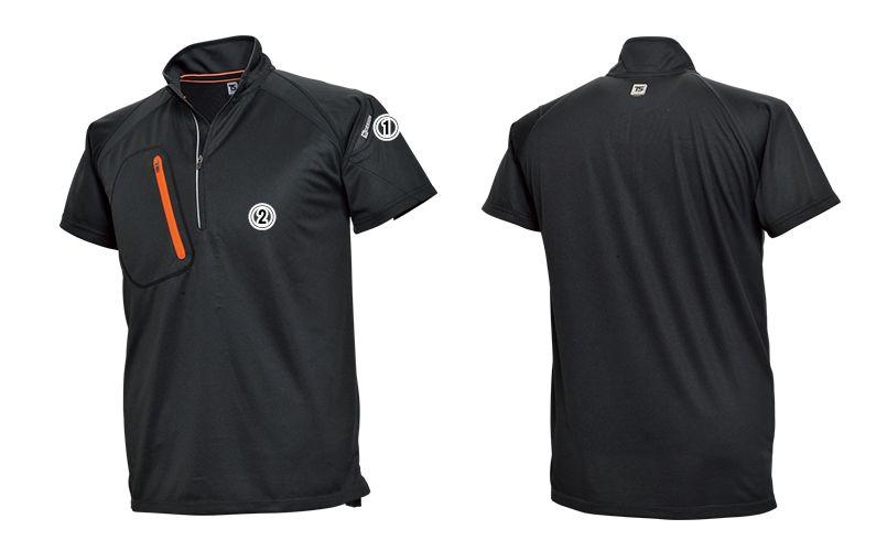 5015 TS DESIGN FLASH [春夏用]ハーフジップ ドライポロシャツ(男女兼用) 商品詳細・こだわりPOINT