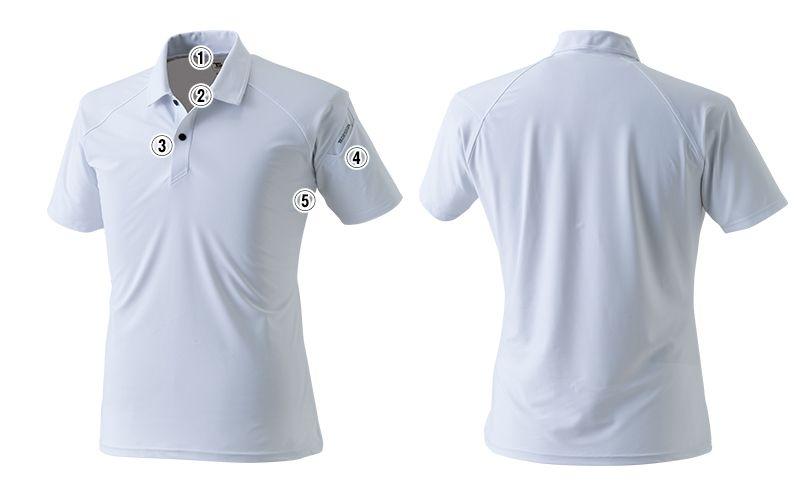 8065 TS DESIGN [春夏用]クールアイス半袖ポロシャツ(男女兼用) 商品詳細・こだわりPOINT