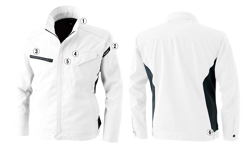 8106 TS DESIGN AIR ACTIVE ロングスリーブジャケット(男女兼用) 商品詳細・こだわりPOINT