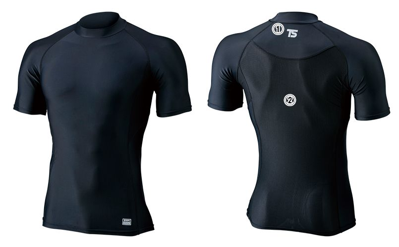 841551 TS DESIGN [春夏用]コンプレッション ハイネックショートスリーブシャツ(男性用) 商品詳細・こだわりPOINT