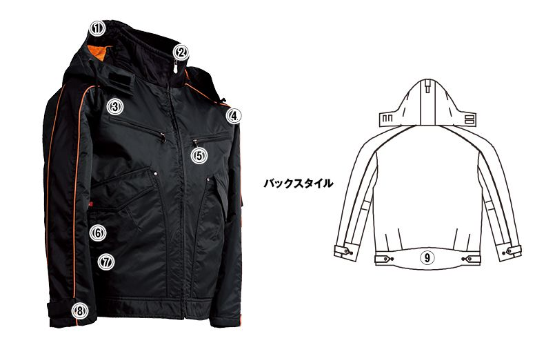 ジーベック 892 ライダーススタイル 防寒ブルゾン 防風 商品詳細・こだわりPOINT