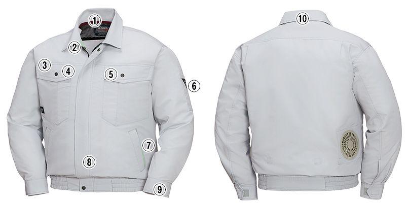 ジーベック XE98007SET [春夏用]空調服セット 長袖ブルゾン 商品詳細・こだわりPOINT