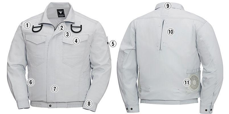 ジーベック XE98101SET [春夏用]空調服セット ハーネス対応 長袖ブルゾン 遮熱 商品詳細・こだわりPOINT