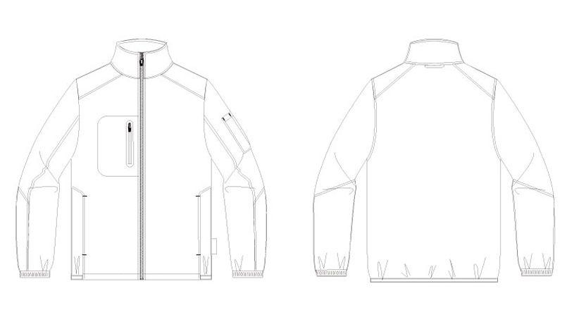 AZ10307 アイトス タルテックス 軽量防寒ジャケット ハンガーイラスト・線画