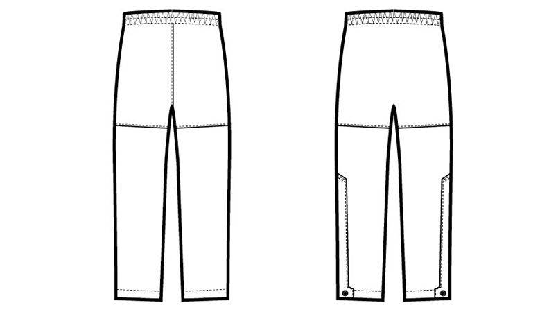 AZ56302 アイトス ディアプレックス 全天候型パンツ ハンガーイラスト・線画