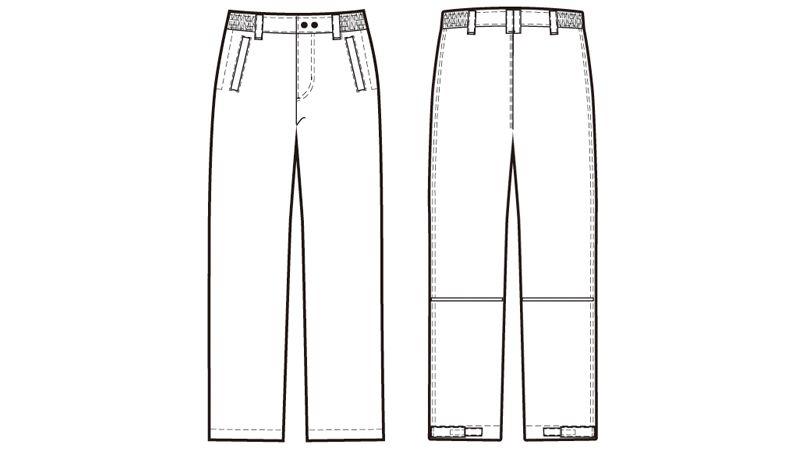 AZ8562 アイトス 防風防寒パンツ ハンガーイラスト・線画
