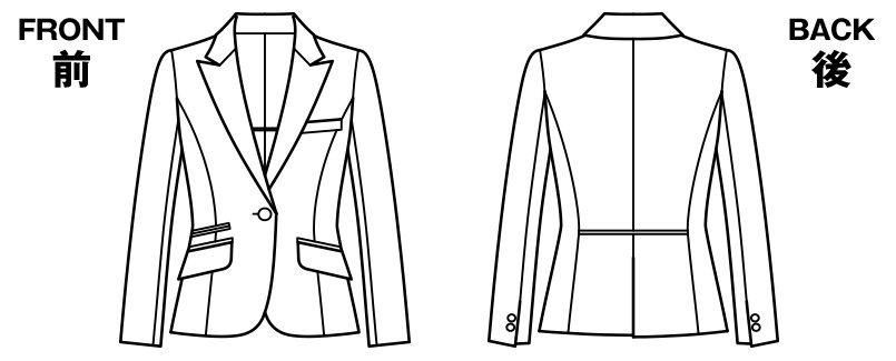 BONMAX AJ0242 [通年]インプレス ジャケット 無地 ハンガーイラスト・線画
