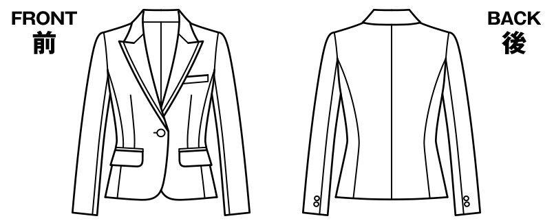 BONMAX AJ0246 [通年]リアン ジャケット(1つボタン)  ストライプ ハンガーイラスト・線画