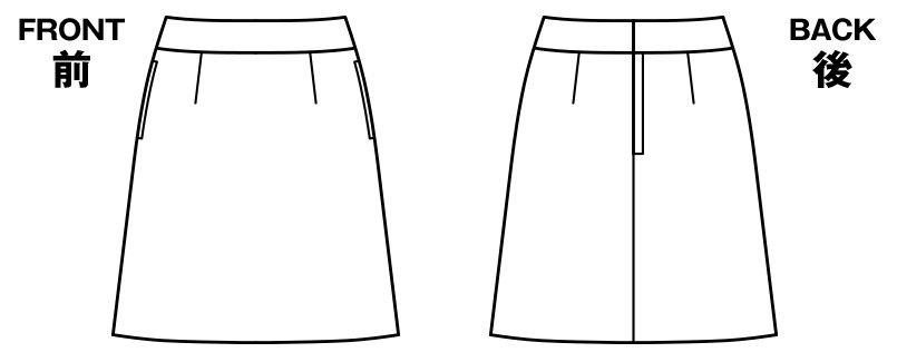 BONMAX LS2743 [春夏用]アミティエ Aラインスカート チェック ハンガーイラスト・線画
