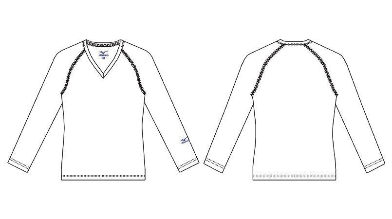 MZ-0155 ミズノ(mizuno) 9分袖アンダーウェア(男性用) ハンガーイラスト・線画