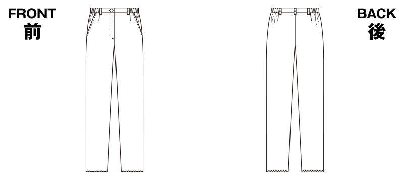6014SC FOLK(フォーク) レディースパンツ(女性用) ハンガーイラスト・線画