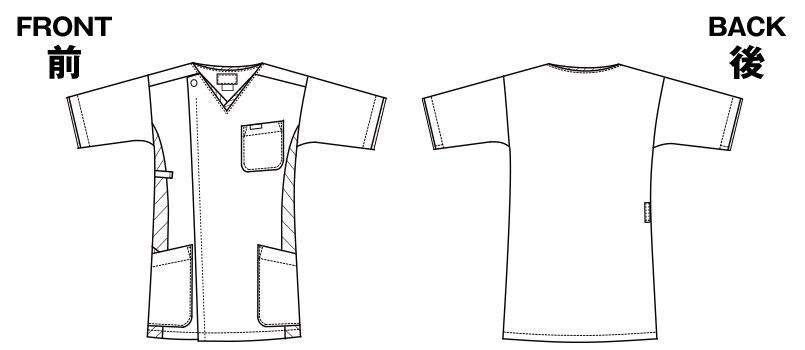 7025SC FOLK(フォーク) メンズ ジップスクラブ(男性用) ハンガーイラスト・線画