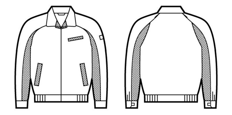 自重堂 43820 製品制電エコ 5バリューブルゾン(製品制電JIS T8118適合) ハンガーイラスト・線画